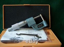 Mitutoyo 295-314 0-1 Digital Tubing Micrometer. 0001 Graduation. New