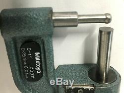 Mitutoyo 295-703 Rolling Digital Tube Micrometer, 0-1/25mm Range. 0001/0.01mm