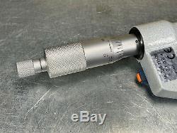 Mitutoyo 326-711-30 Digital Thread Micrometer 0-1 with (6) Pairs of Anvils