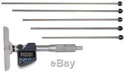 Mitutoyo 329-350-30 Digital Depth Micrometer, Interchangeable Rod Type 0-6 NIB