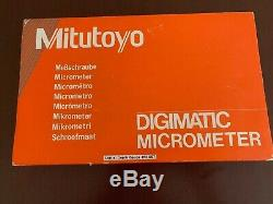 Mitutoyo 329-711-30 Digital Depth Micrometer 0-6/ 0-150mm Interchangeable Rod