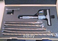 Mitutoyo 329-711 Digital Output Depth Micrometer 0 to 6 w Case & Ext Rods DMC4