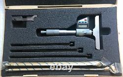Mitutoyo 329 Series 329-711 Interchangeable Rod Electronic Depth Micrometer Nice