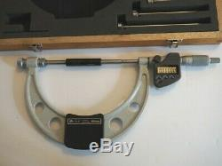 Mitutoyo 340-351 Outside Interchangeable Anvil Micrometer, 0-6 0-152.4 mm