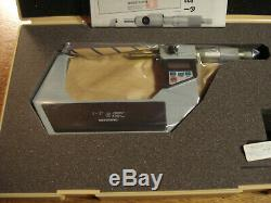 Mitutoyo 342-713 2- 3.00005 & 0.001mm Point Anvil Micrometer set new in box