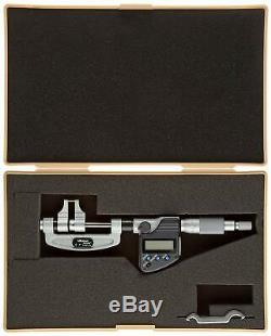 Mitutoyo 343-350 LCD Caliper Type Micrometer, Ratchet Stop, 0-1/0-25.4mm