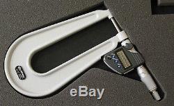 Mitutoyo 389-351-30 Digital Micrometer, 6 Throat Depth, 0 to 1/0 to 25.4mm