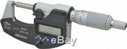 Mitutoyo 395-371-30 Spherical Face Micrometer, 0-1.0001.00005/0.001mm