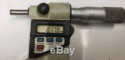 Mitutoyo 3-4 Digital Micrometer. 00005 Res. WithEtchings. S/n-90879