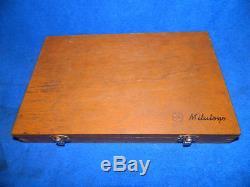 Mitutoyo 3 piece Rolling Digital. 0001 graduation Micrometer Set 0-3 with Box