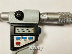 Mitutoyo 422-312-10 1-2 Digital Blade Micrometer with 1 Standard and Case