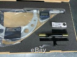 Mitutoyo 4-5 Digital LCD Micrometer, Coolant Proof. 0001 Grad 293-350-10