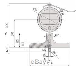Mitutoyo 547-218S Depth Gage 0-8/200mmX. 0005/0.01mm 4 Base Depth micrometer