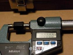 Mitutoyo Combination Set Digital Micrometer & Dial Caliper