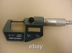 Mitutoyo Craftsman Digital Micrometer 293-761-cr3, 0-1, 0.00005, 0.001mm