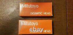 Mitutoyo Digimatic 350-714 Digital Micrometer Heads (two heads)