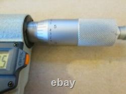 Mitutoyo Digimatic Micrometer, 1-2, Model 293-722-30.00005 Res, Case, Nice