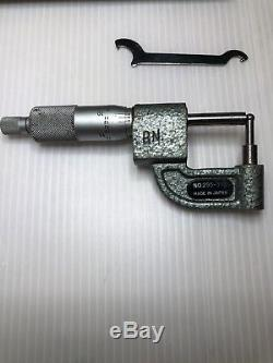 Mitutoyo Digit Counter Tube Pipe Wall Micrometer Cylindrical Anvil 0-1 / 0.0001