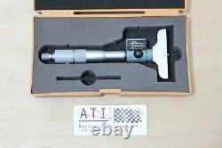 Mitutoyo Digit Depth Micrometer 0-25mm 0.01mm, 229 101, Made in Japan