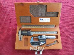 Mitutoyo Digital 0-1.00005 Micrometer and 0-6 0005 Caliper set