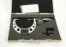 Mitutoyo Digital Blade Micrometer 75-100mm/ 3-4 inches, Depth 25-50mm, Spline 25