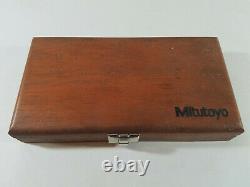 Mitutoyo Digital Caliper 500-196 and Micrometer 293-765-30 in Wood Case