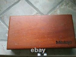 Mitutoyo Digital Caliper CD-6B, Micrometer 293-761-30 Set In Wood Case