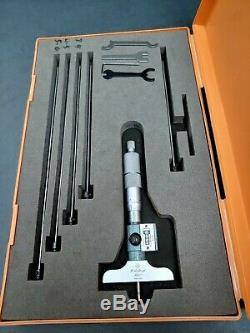 Mitutoyo Digital Depth Micrometer, 0 to 6 229-128 Machinist Tool Metrology