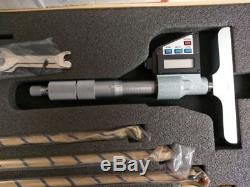 Mitutoyo Digital Depth Micrometer 329-711, 0-6.00005, With Case And Rods