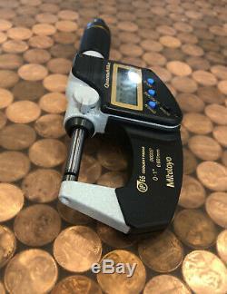 Mitutoyo Digital Micrometer 0-1 Inch, Quantumike Model 293-185-30 Ip65