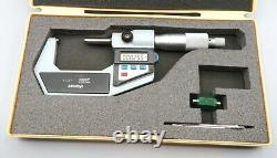 Mitutoyo Digital Micrometer 1-2.00005 293-722-10 TESTED new battery