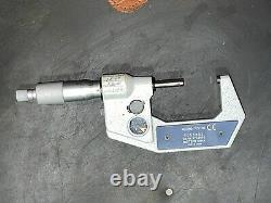 Mitutoyo Digital Micrometer 1-2 Range. 0005 Grads Carbide Faced