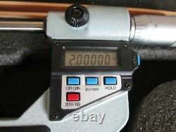 Mitutoyo Digital Micrometer, 2-3 Range, No 293-723-10, Attachments, Case