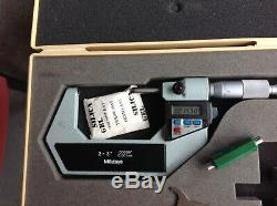 Mitutoyo Digital Micrometer 3 Pc Set, Very Good Condition