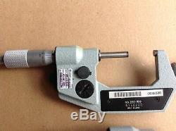 Mitutoyo Digital Micrometer 3 Pc Set, Very Good Condition