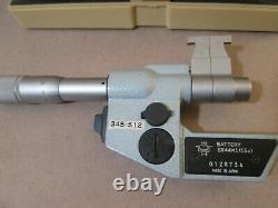 Mitutoyo Digital Micrometer, ID Micrometer, 345-512, 25-50 mm, Case