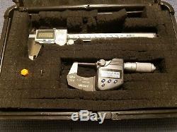 Mitutoyo Digital Micrometer IP65 and Digital Caliper IP67 Set