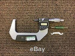 Mitutoyo Digital Micrometer Model No. 293-333 3- 4 Range SPC OP 0.001mm