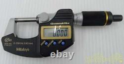 Mitutoyo Digital Micrometer QuantuMike MDE25MJ (293-140) From Japan