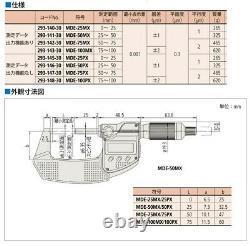 Mitutoyo Digital Micrometer QuantuMike MDE25MX (293-140-30) FROM JAPAN NEW