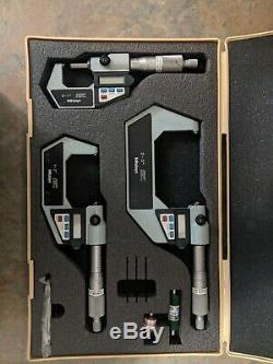 Mitutoyo Digital Micrometer Set model number 293-330-30 0-1, 1-2, 2-3