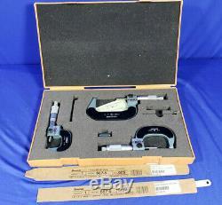 Mitutoyo Digital Outside Micrometer Set 0-3 No. 193-923