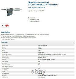 Mitutoyo Electronic Digital Micrometer Head - 350-351-10