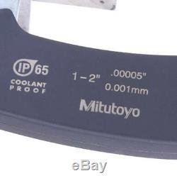 Mitutoyo IP-65-293-341 Digital Micrometer 1-2 with Starrett Webber Standard