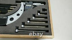 Mitutoyo IP 65 340-251-30 Digital Micrometer Interchangeable Anvil 0-150mm