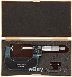 Mitutoyo Metric Disk Disc Flange Micrometer Digit Counter 25-50mm / 0.01mm