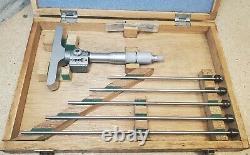 Mitutoyo No. 229-132 digital depth micrometer set 0 6 DMC4-6K
