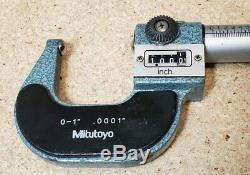 Mitutoyo No. 295-253 digital outside micrometer with rounded faces. 0001