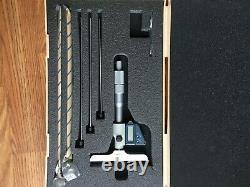Mitutoyo No. 329-511-30 Digital Depth Micrometer set with 6 Rods