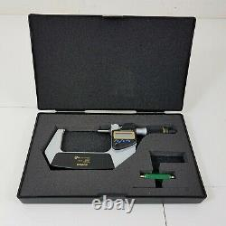 Mitutoyo QuantuMike 2 Min Carbide-Tipped IP65 Electronic Outside Micrometer